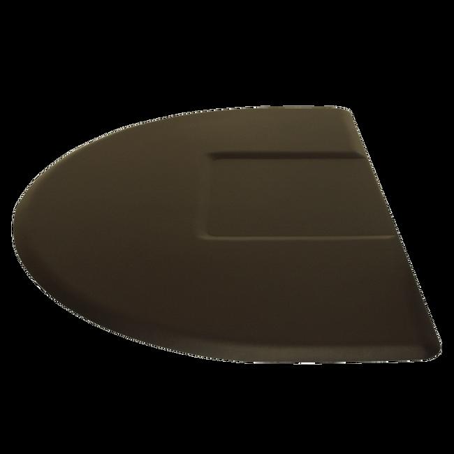 4045CS 4 x 4.5 1/2 Round Black Mat With Chair Depression