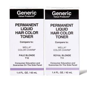 Permanent Liquid Hair Color Toner Compare to Wella® Color Charm®