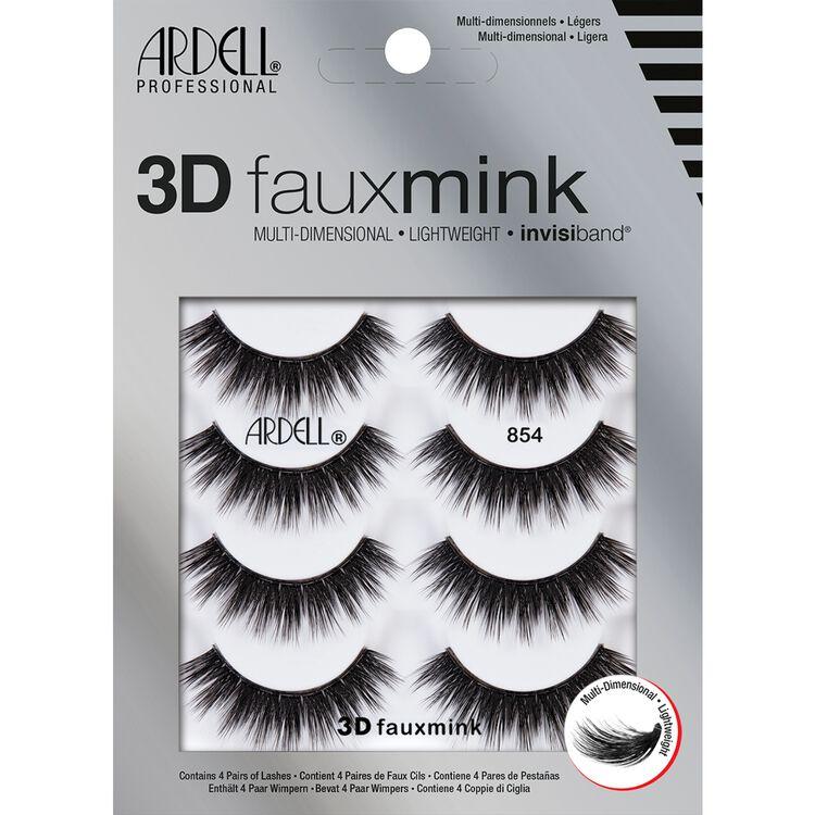3D Faux Mink Lashes #854 4 Pack