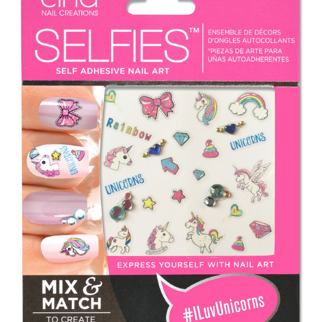 SELFIES ILuvUnicorns by Cina | Nail Art & Design | Sally Beauty