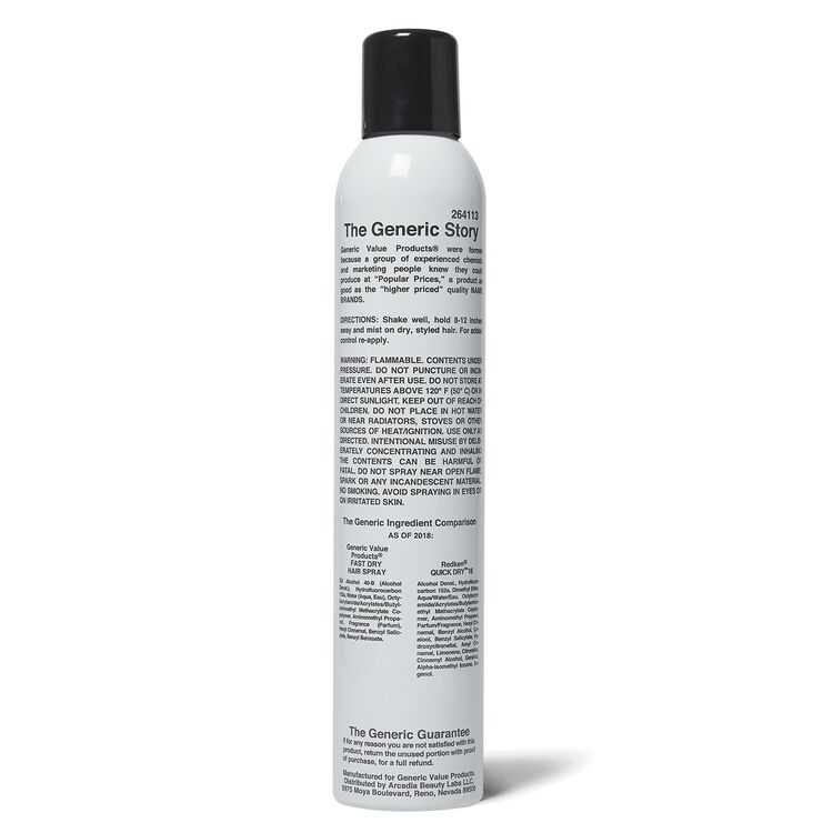 GVP Fast Dry Hair Spray Compare to Redken Quick Dry