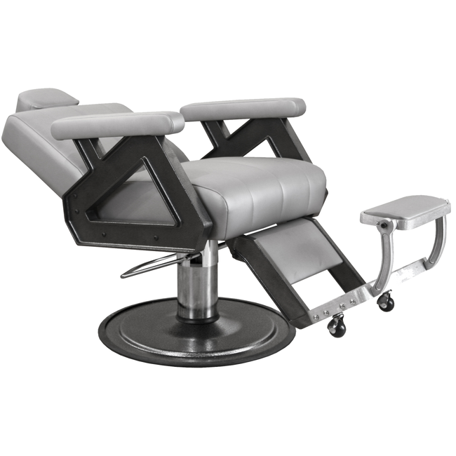 Caliber Barber Chair with Silver Arms