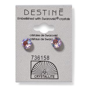 Destine Violet AB Diamond Cut Earring