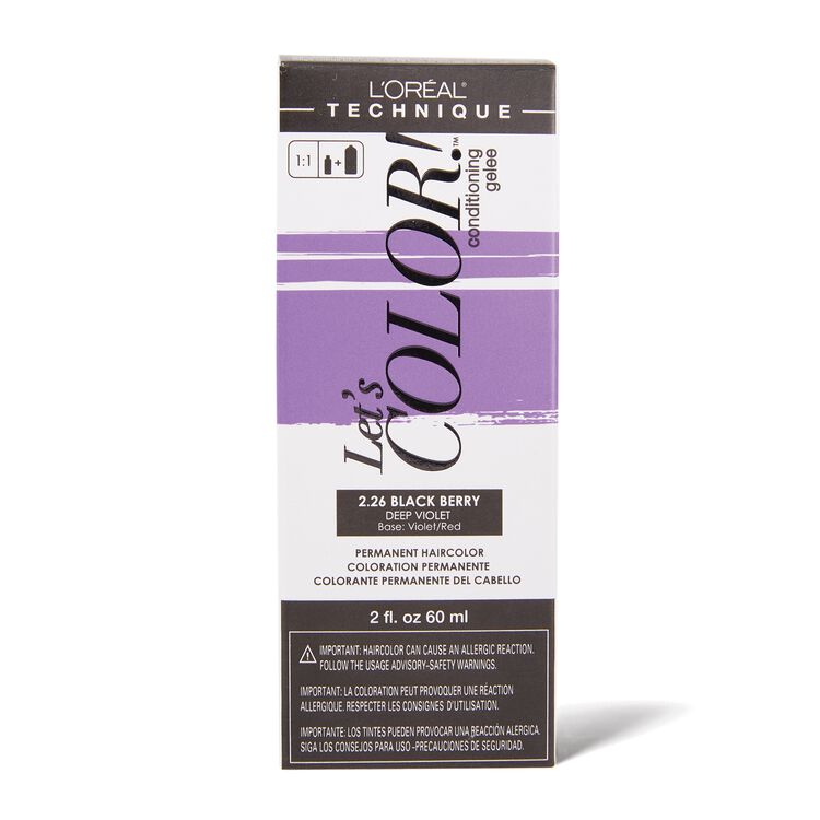 Let's COLOR! Conditioning Gelee Permanent Haircolor 2.26 Black Berry