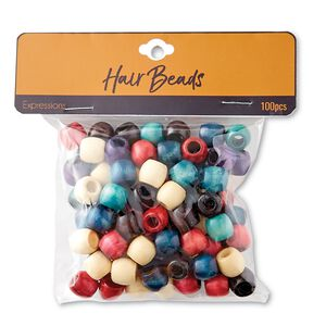 Multi Color Wood Beads 100ct