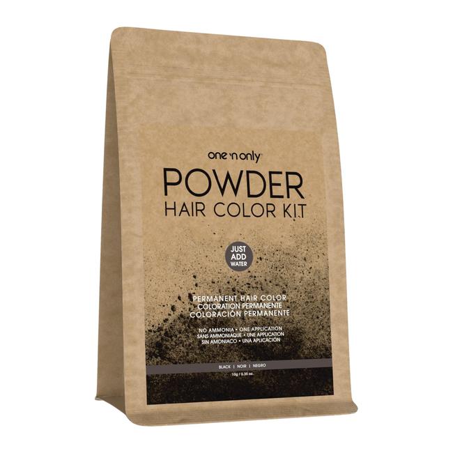 Powder Permanent Hair Color Kit Black