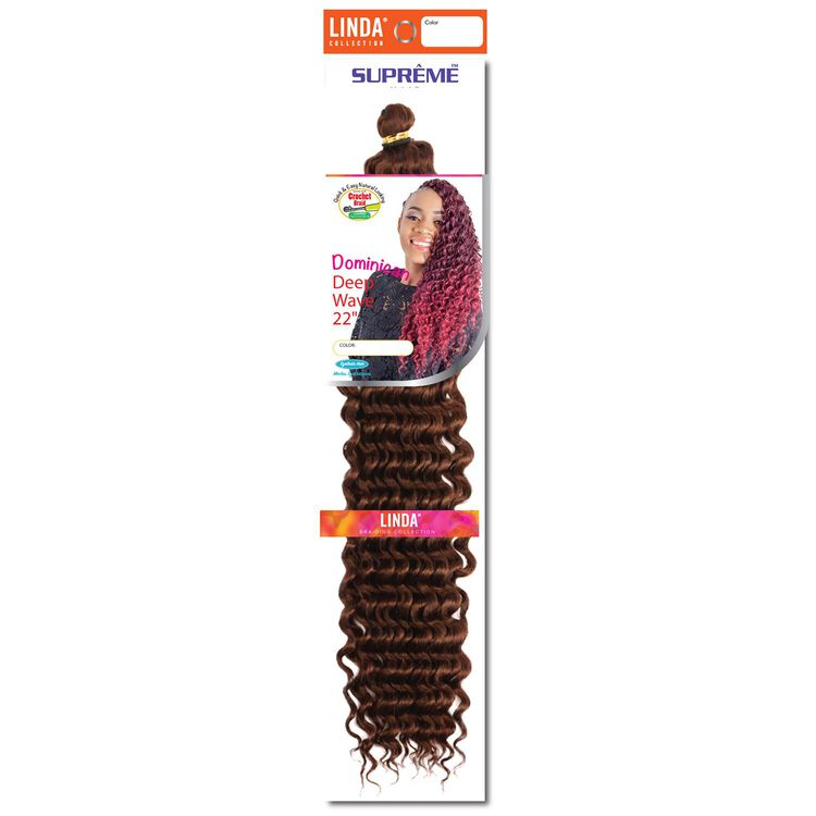 Dominican Wave 22 Inch Crochet Hair Medium Auburn
