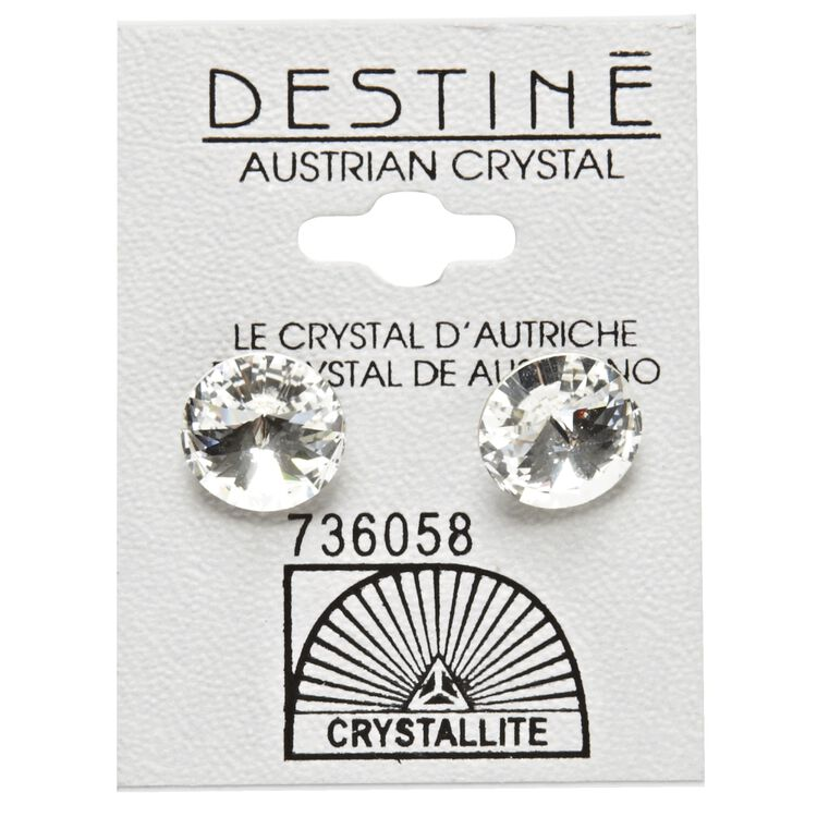 Destine Clear Rivoli Earrings