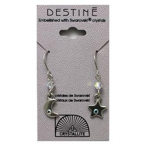 Destine Earring Moon and Stars