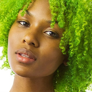 Neon Lime hair color look