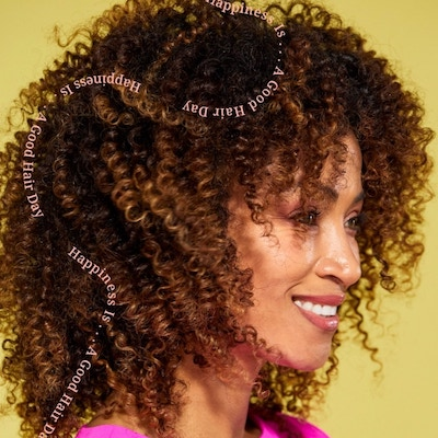 Woman with curly textured hair