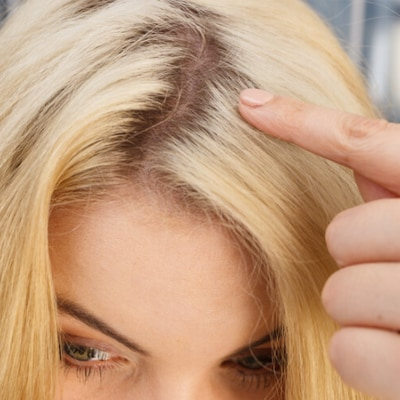 Temporary Blonde Color and Rout Touch-Up