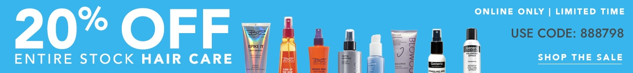 20% Off Select Hair Care