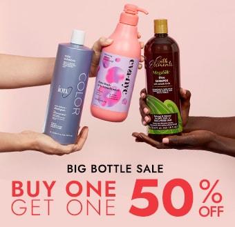 Big Bottle Sale. Buy 1 Get 1 50% off.