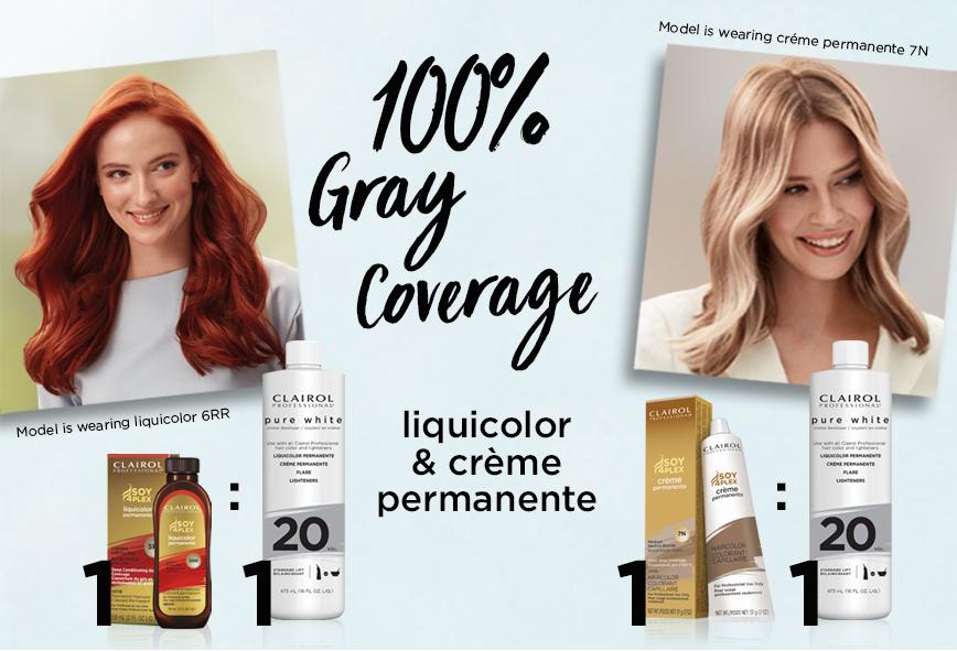 100% Gray Coverage. Pure White Liquicolor & Creme Permanente