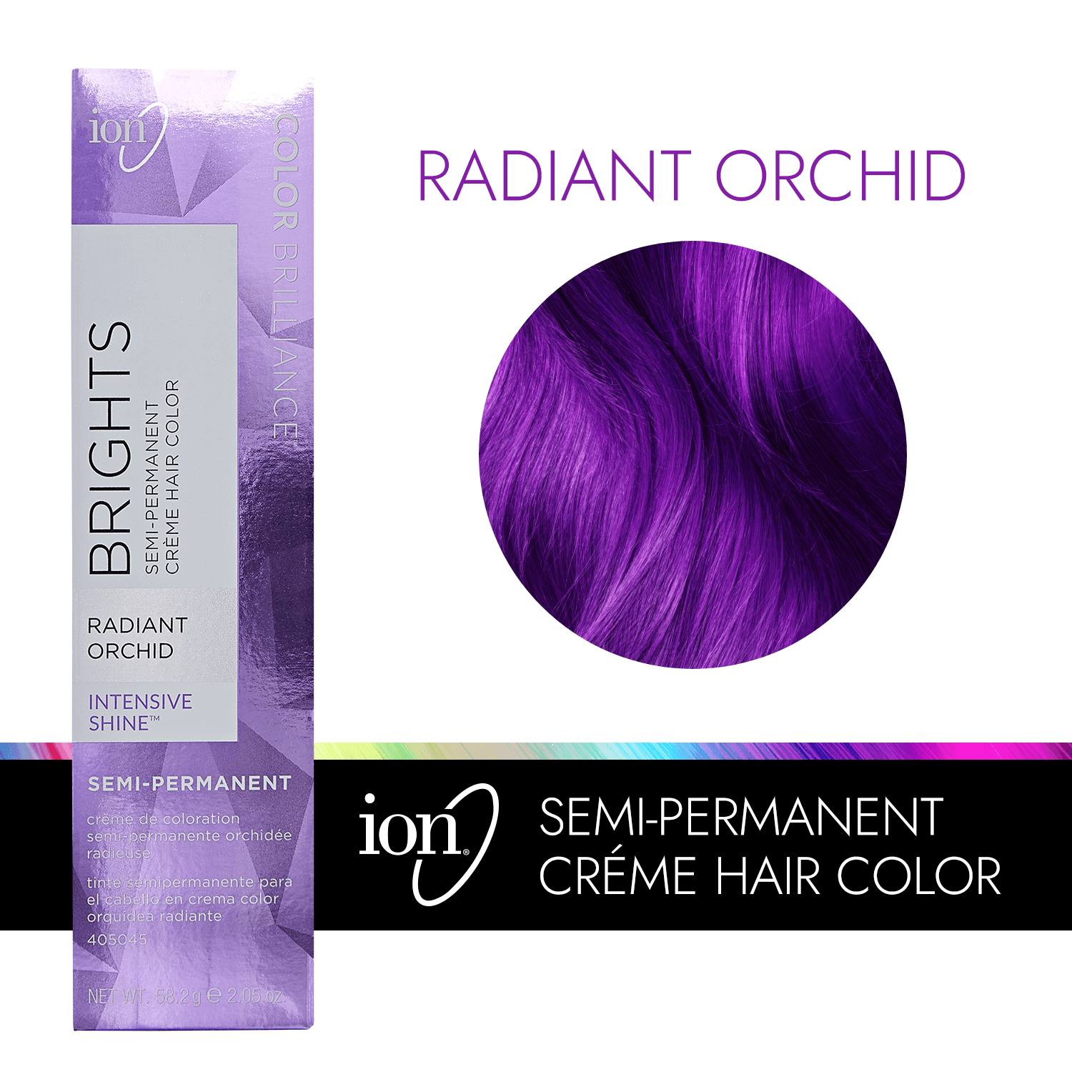 Ion Color Brilliance Semi Permanent Neon Brights Hair Radiant Orchid
