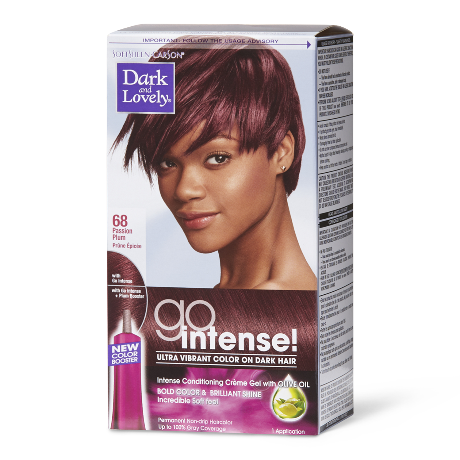 Dark Lovely Go Intense Passion Plum Permanent Hair Color