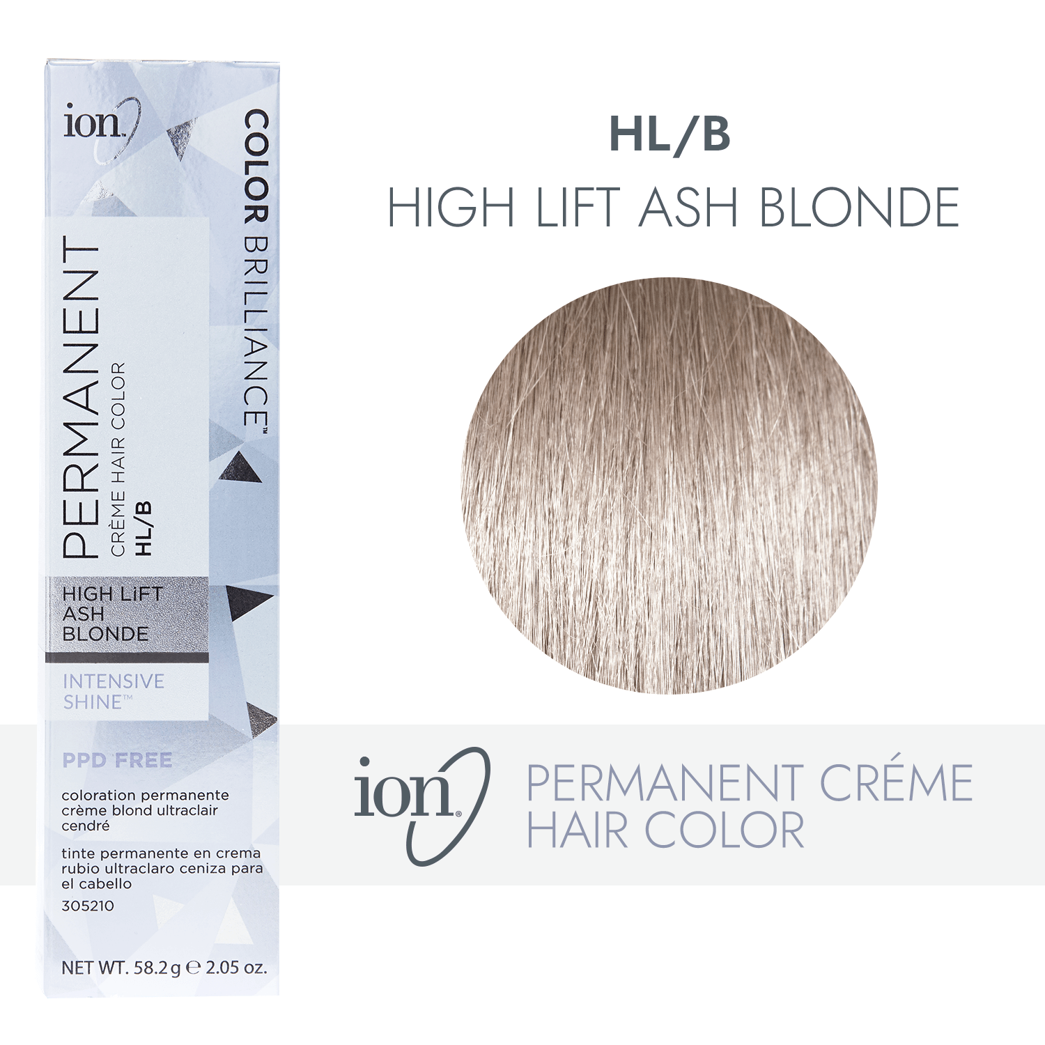 Ion Hl B Hi Lift Ash Blonde Permanent Creme Hair Color By Color