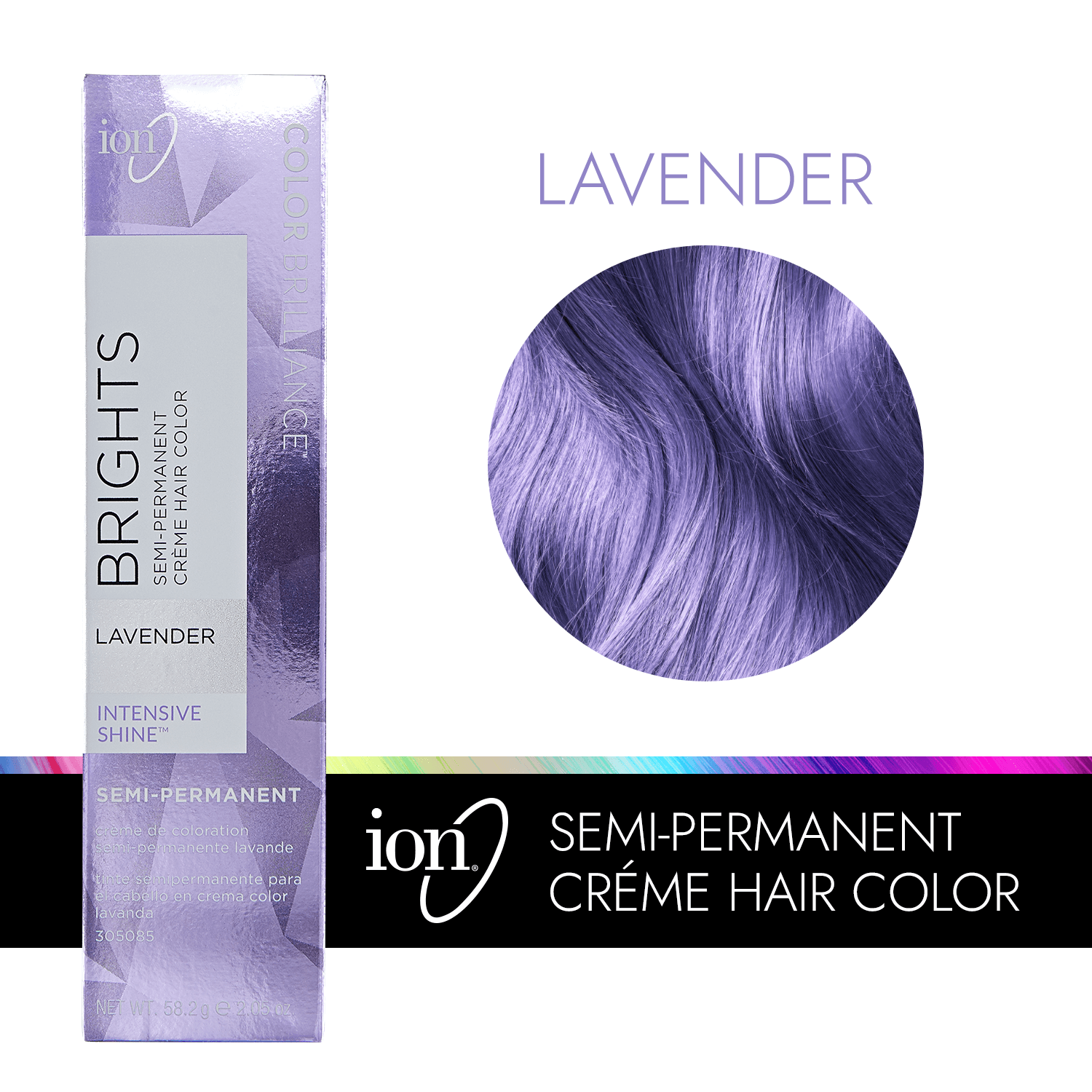 Lavender Color Brilliance Brights Semi Permanent Hair