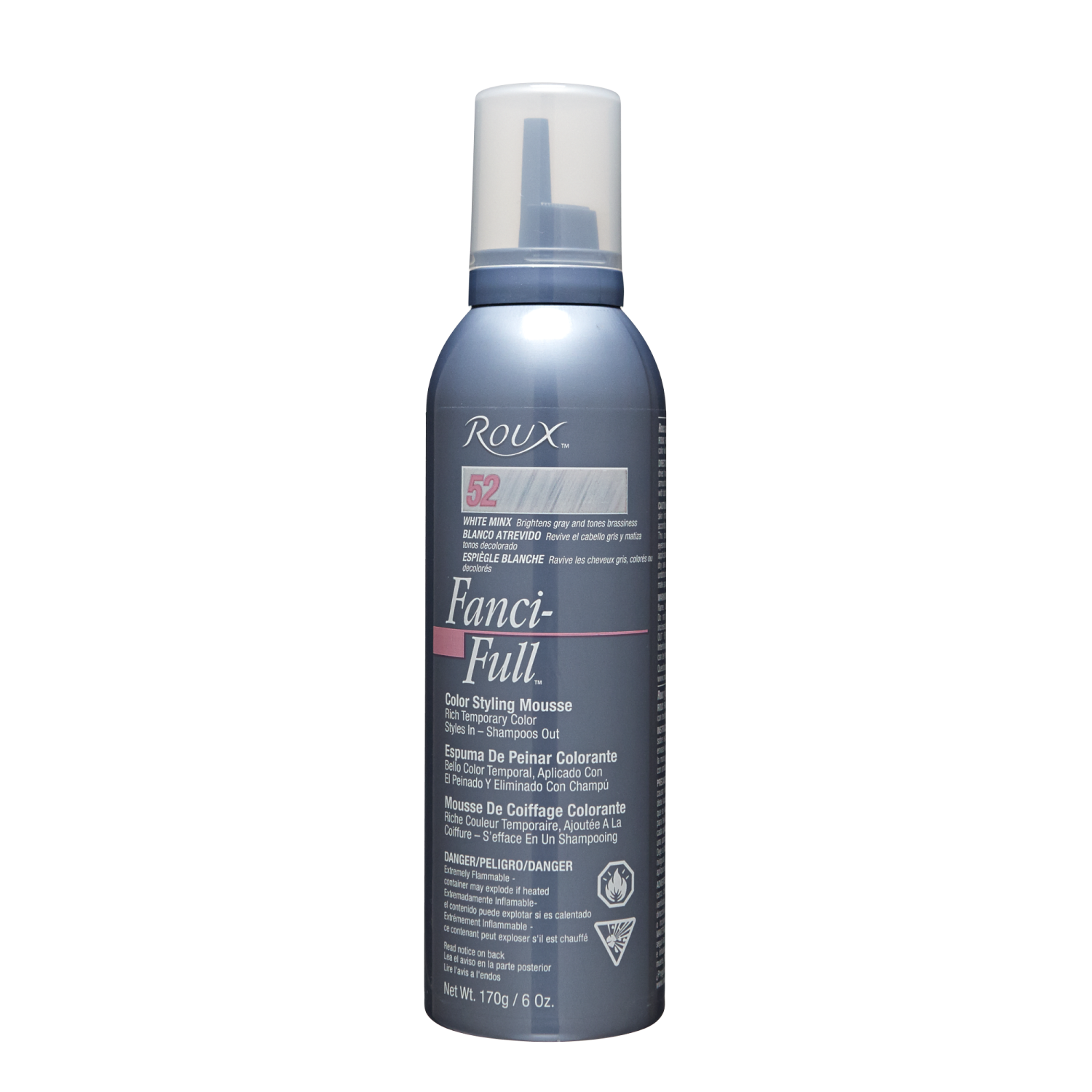 White Minx Fanci Full Temporary Hair Color Mousse By Roux
