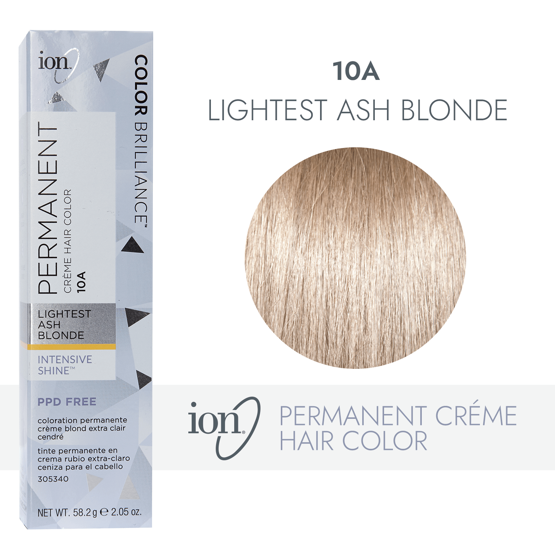 Ion 10a Lightest Ash Blonde Permanent Creme Hair Color By Color