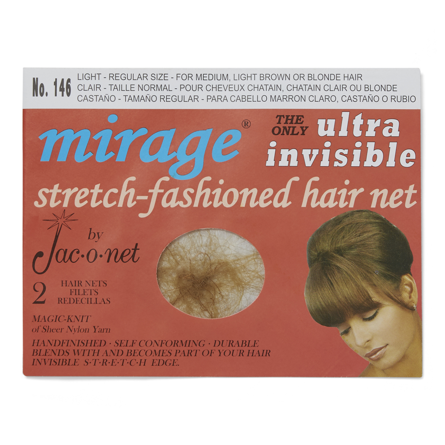 Jac O Net Mirage Ultra Invisible Hair Net