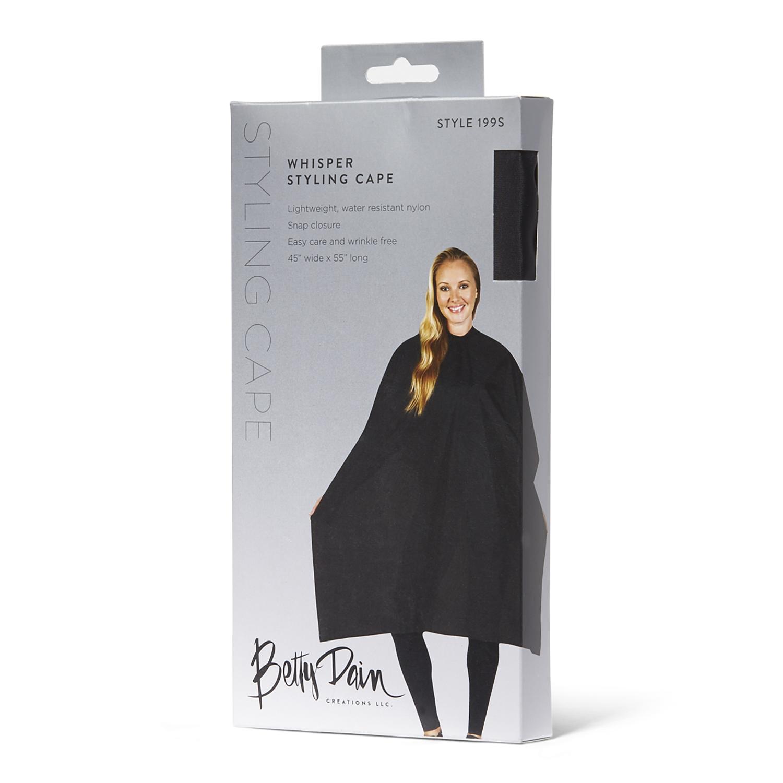 Sally Beauty coupon: Betty Dain Black Whisper Styling Cape | Sally Beauty