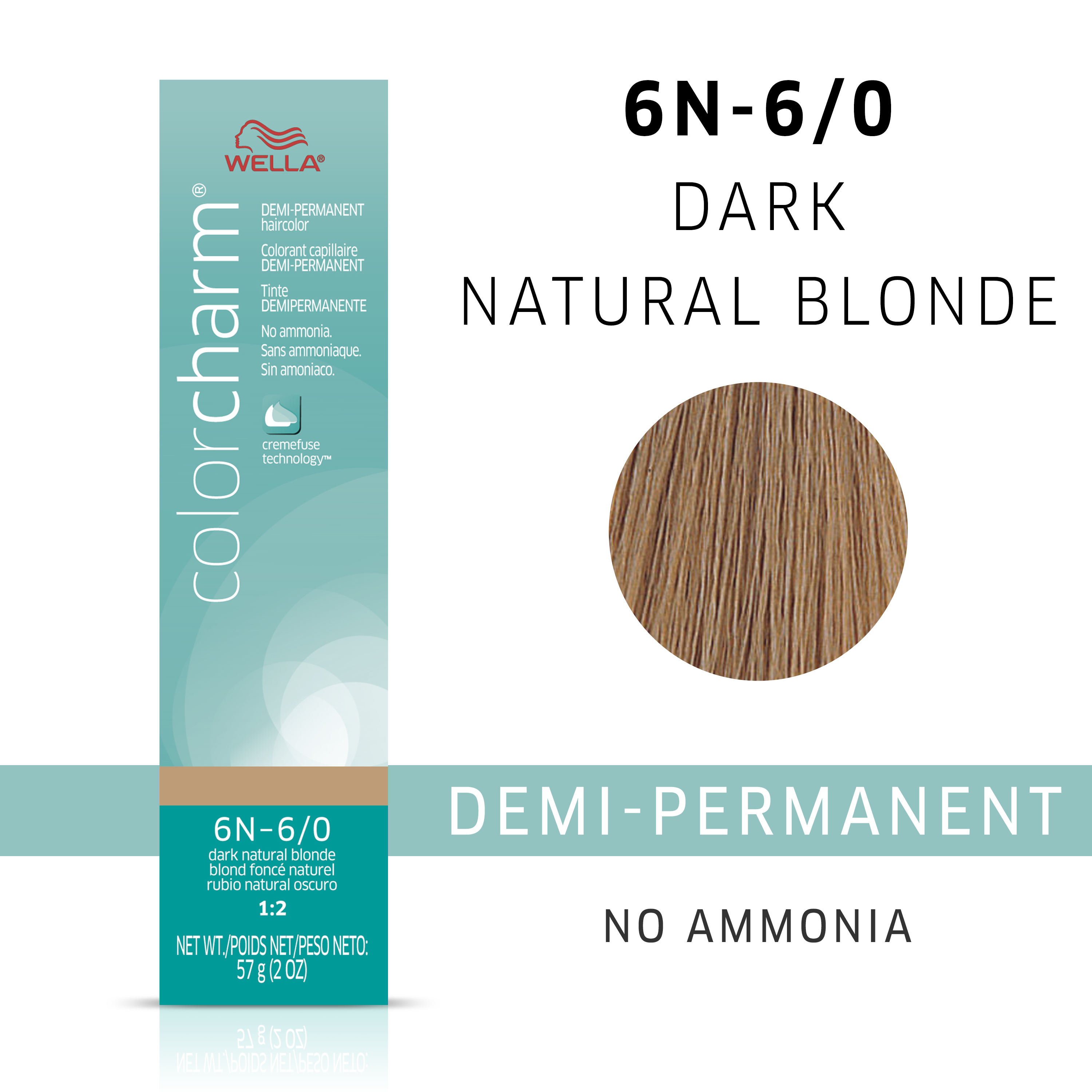 Dark Natural Blonde Color Charm Demi Permanent Hair Color By Wella