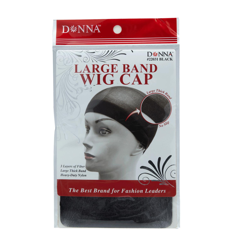 Donna Large Band Wig Cap Black