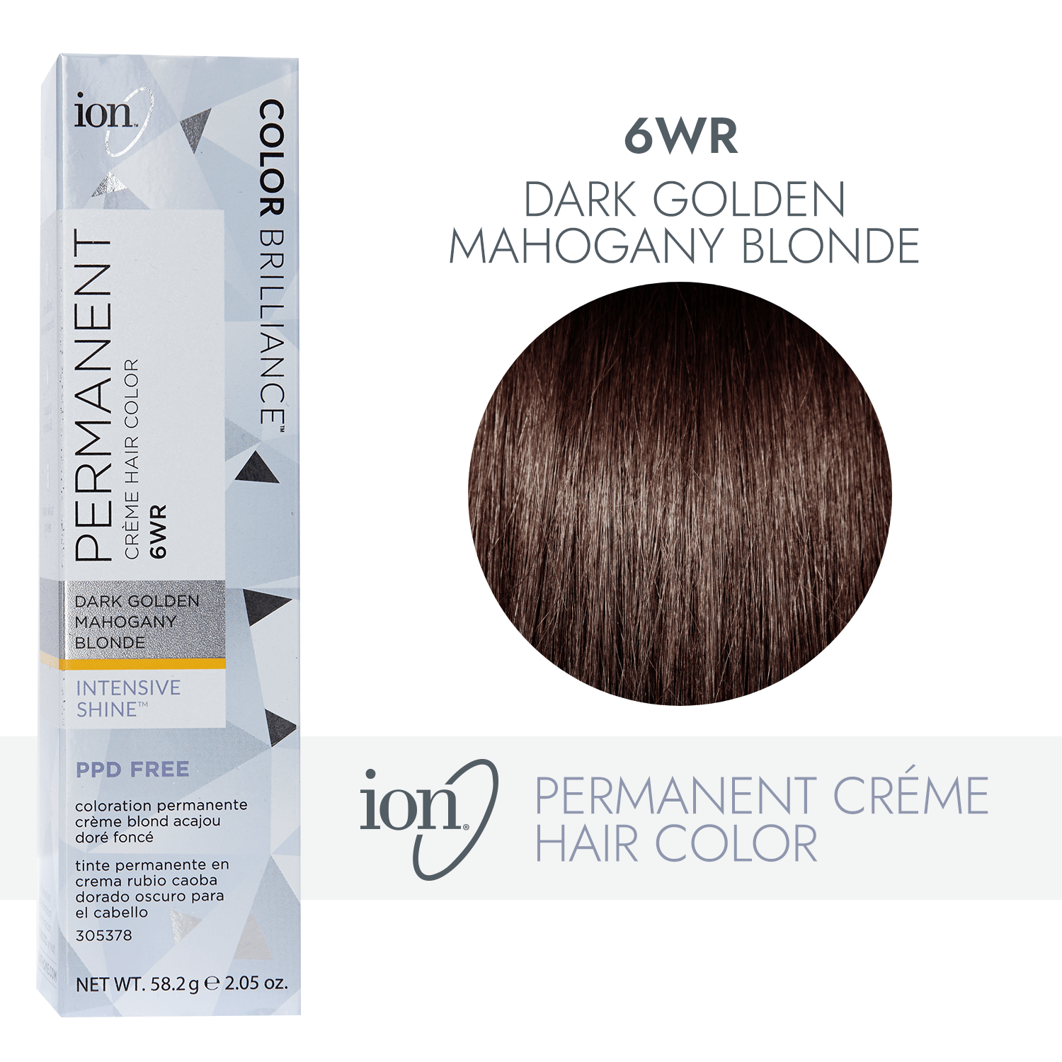 Ion 6wr Dark Gold Mahogany Blonde Permanent Creme Hair Color By