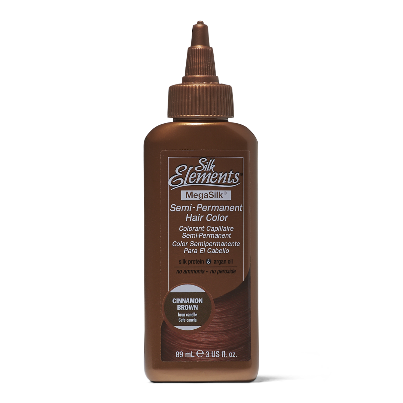 Silk Elements Semi Permanent Hair Color Cinnamon Brown